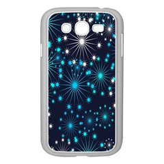 Digitally Created Snowflake Pattern Background Samsung Galaxy Grand Duos I9082 Case (white) by Nexatart