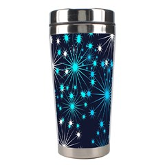 Digitally Created Snowflake Pattern Background Stainless Steel Travel Tumblers by Nexatart