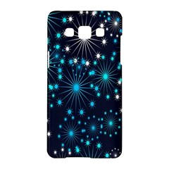 Digitally Created Snowflake Pattern Background Samsung Galaxy A5 Hardshell Case  by Nexatart