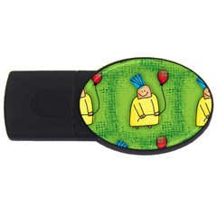 Party Kid A Completely Seamless Tile Able Design Usb Flash Drive Oval (4 Gb) by Nexatart