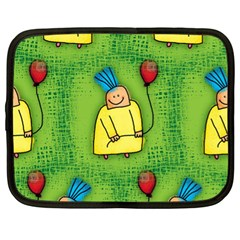 Party Kid A Completely Seamless Tile Able Design Netbook Case (xl)  by Nexatart