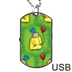 Party Kid A Completely Seamless Tile Able Design Dog Tag Usb Flash (one Side) by Nexatart