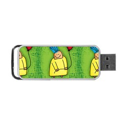 Party Kid A Completely Seamless Tile Able Design Portable Usb Flash (one Side) by Nexatart