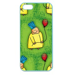 Party Kid A Completely Seamless Tile Able Design Apple Seamless Iphone 5 Case (color)