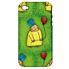 Party Kid A Completely Seamless Tile Able Design Apple Iphone 4/4s Hardshell Case (pc+silicone) by Nexatart