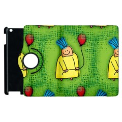 Party Kid A Completely Seamless Tile Able Design Apple Ipad 3/4 Flip 360 Case by Nexatart