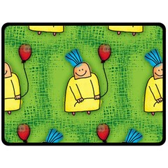 Party Kid A Completely Seamless Tile Able Design Double Sided Fleece Blanket (large)  by Nexatart