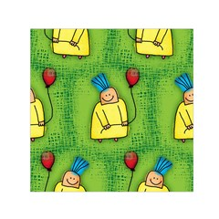 Party Kid A Completely Seamless Tile Able Design Small Satin Scarf (square) by Nexatart