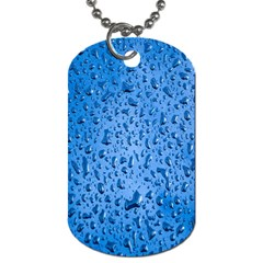 Water Drops On Car Dog Tag (two Sides)