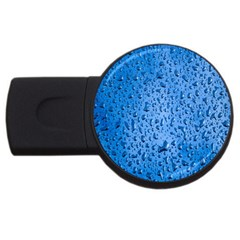 Water Drops On Car Usb Flash Drive Round (2 Gb) by Nexatart