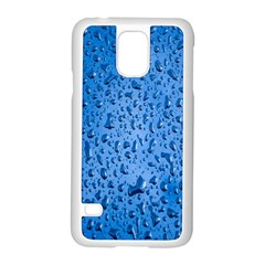 Water Drops On Car Samsung Galaxy S5 Case (white) by Nexatart