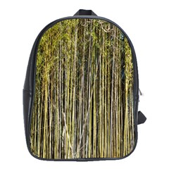 Bamboo Trees Background School Bags (XL)