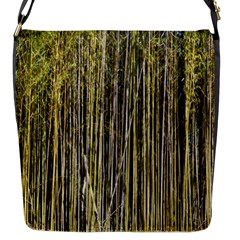 Bamboo Trees Background Flap Messenger Bag (s)