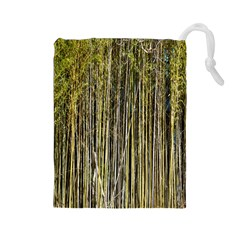 Bamboo Trees Background Drawstring Pouches (large)  by Nexatart