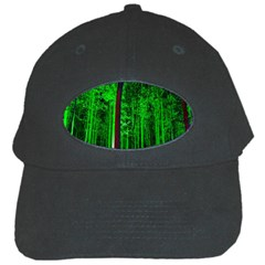 Spooky Forest With Illuminated Trees Black Cap by Nexatart