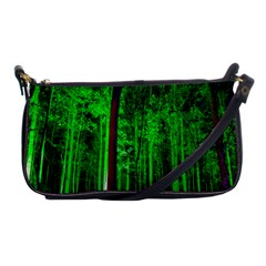 Spooky Forest With Illuminated Trees Shoulder Clutch Bags by Nexatart