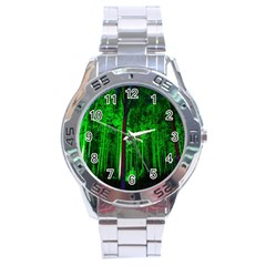 Spooky Forest With Illuminated Trees Stainless Steel Analogue Watch
