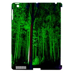 Spooky Forest With Illuminated Trees Apple Ipad 3/4 Hardshell Case (compatible With Smart Cover) by Nexatart