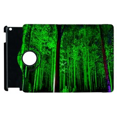 Spooky Forest With Illuminated Trees Apple Ipad 2 Flip 360 Case by Nexatart