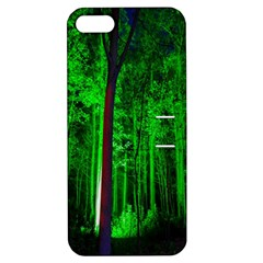 Spooky Forest With Illuminated Trees Apple Iphone 5 Hardshell Case With Stand by Nexatart