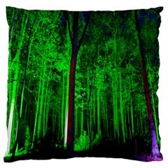 Spooky Forest With Illuminated Trees Standard Flano Cushion Case (one Side) by Nexatart