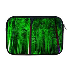 Spooky Forest With Illuminated Trees Apple Macbook Pro 17  Zipper Case by Nexatart