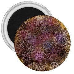 2000 Spirals Many Colorful Spirals 3  Magnets by Nexatart