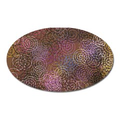 2000 Spirals Many Colorful Spirals Oval Magnet by Nexatart