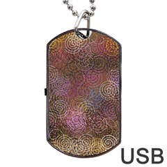 2000 Spirals Many Colorful Spirals Dog Tag Usb Flash (one Side) by Nexatart