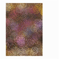 2000 Spirals Many Colorful Spirals Small Garden Flag (two Sides) by Nexatart