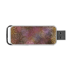 2000 Spirals Many Colorful Spirals Portable Usb Flash (two Sides) by Nexatart
