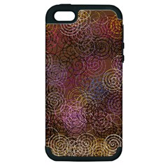 2000 Spirals Many Colorful Spirals Apple Iphone 5 Hardshell Case (pc+silicone) by Nexatart