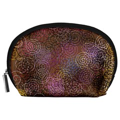 2000 Spirals Many Colorful Spirals Accessory Pouches (large)  by Nexatart