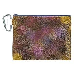 2000 Spirals Many Colorful Spirals Canvas Cosmetic Bag (XXL) by Nexatart