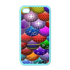 Fun Balls Pattern Colorful And Ornamental Balls Pattern Background Apple Iphone 4 Case (color) by Nexatart