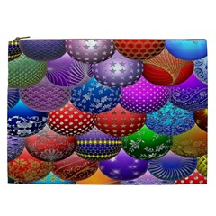 Fun Balls Pattern Colorful And Ornamental Balls Pattern Background Cosmetic Bag (xxl)  by Nexatart