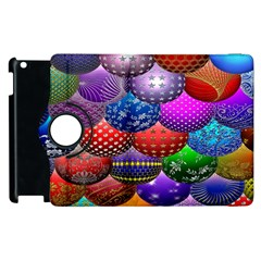 Fun Balls Pattern Colorful And Ornamental Balls Pattern Background Apple Ipad 2 Flip 360 Case by Nexatart