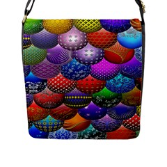 Fun Balls Pattern Colorful And Ornamental Balls Pattern Background Flap Messenger Bag (l)  by Nexatart