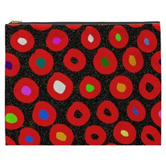Polka Dot Texture Digitally Created Abstract Polka Dot Design Cosmetic Bag (xxxl)  by Nexatart