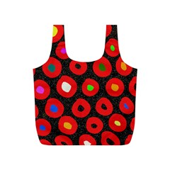 Polka Dot Texture Digitally Created Abstract Polka Dot Design Full Print Recycle Bags (s)