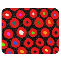 Polka Dot Texture Digitally Created Abstract Polka Dot Design Double Sided Flano Blanket (medium)  by Nexatart