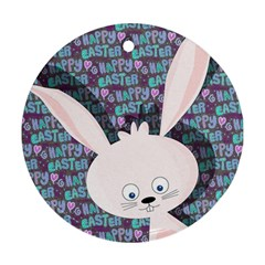 Easter Bunny  Round Ornament (two Sides) by Valentinaart