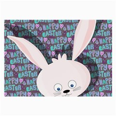 Easter Bunny  Large Glasses Cloth (2 Side) by Valentinaart