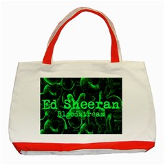 Bloodstream Single Ed Sheeran Classic Tote Bag (red) by Onesevenart