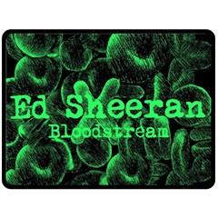Bloodstream Single Ed Sheeran Fleece Blanket (large)  by Onesevenart