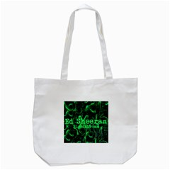Bloodstream Single Ed Sheeran Tote Bag (white) by Onesevenart