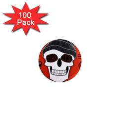 Poster Twenty One Pilots Skull 1  Mini Magnets (100 Pack)  by Onesevenart