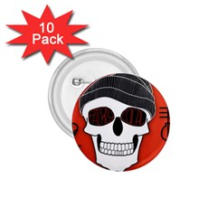 Poster Twenty One Pilots Skull 1 75  Buttons (10 Pack) by Onesevenart