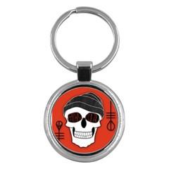 Poster Twenty One Pilots Skull Key Chains (round)  by Onesevenart