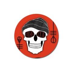 Poster Twenty One Pilots Skull Magnet 3  (round) by Onesevenart